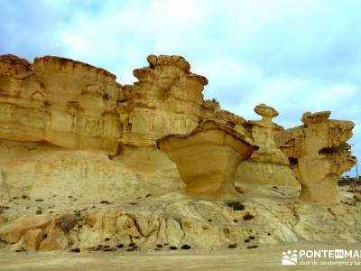 Calblanque y Calnegre - Cabo Tiñoso; Erosiones Bolnuevo;guias de senderismo;escapadas sierra de mad